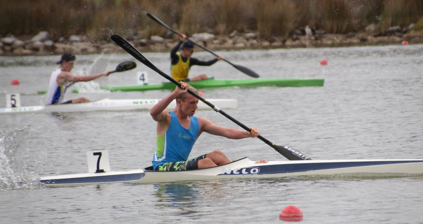 West Lakes Canoe Club sprint K1